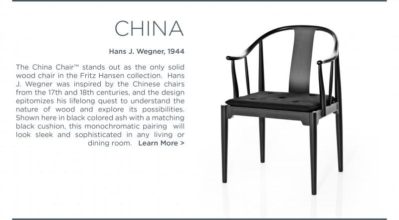 china chair hans j wegner carl hansen suite ny
