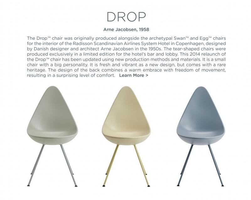 drop chair aren jacobsen fritz hansen suite ny