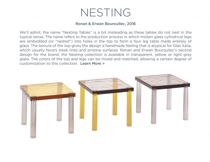 nesting ronan and erwan bouroullec glas italia suite ny