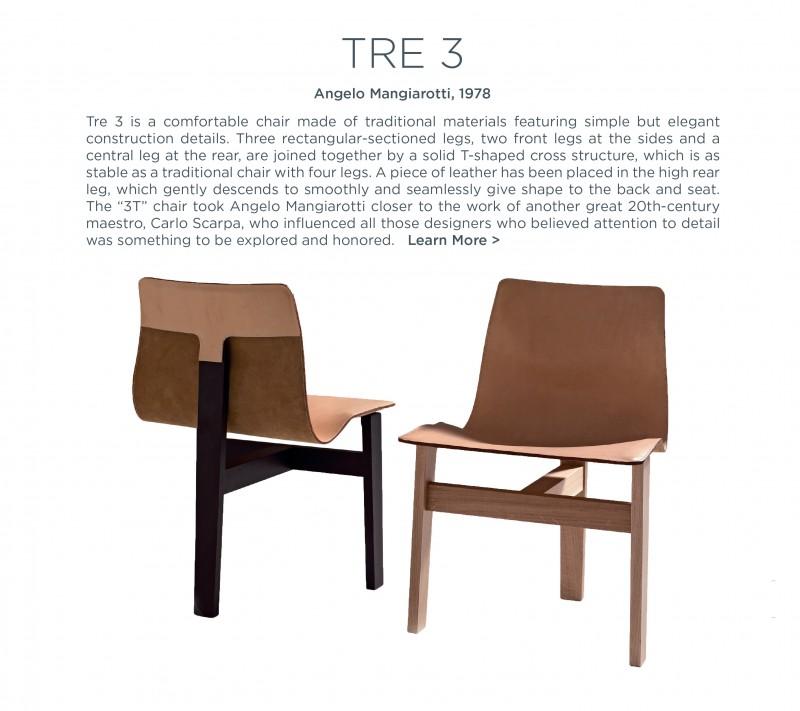 tre 3 chair agape agapecasa angelo mangiariotti suite ny