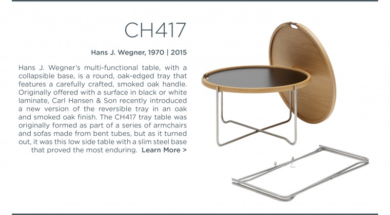 CH417 tray table Hans j wegner carl hansen and son suite ny suite new york