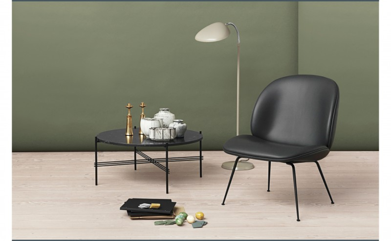 gamfratesi beetle lounge black leather suite ny gubi