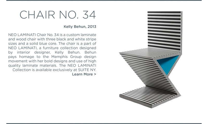 neo laminati chair no number 34 kelly behun suite ny