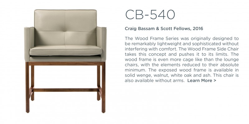 cb 540 wood frame side charm arms ch 541 craig bassam scott fellows bassamfellows suite ny