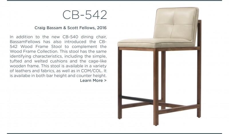 cb 542 543 bar stool bartstool counter stool wood frame leather bassamfellows craig bassam scott fellows suite ny