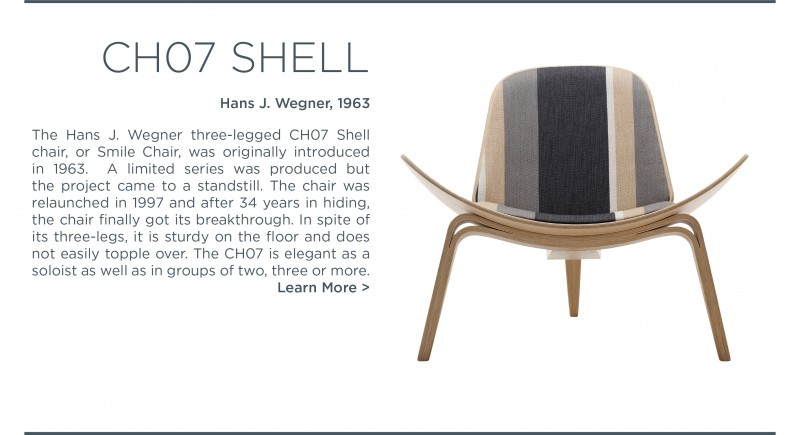 ch07 SHELL chair smile chair hans j wegner carl hansen and son suite ny
