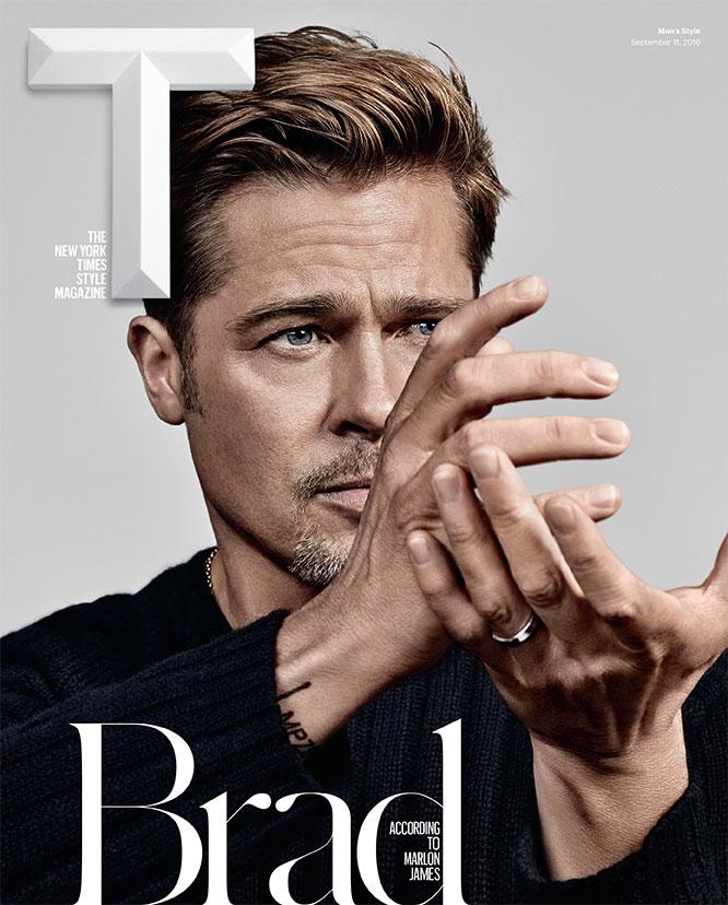 T Magazine Brad pitt cover September 2016 new york times style