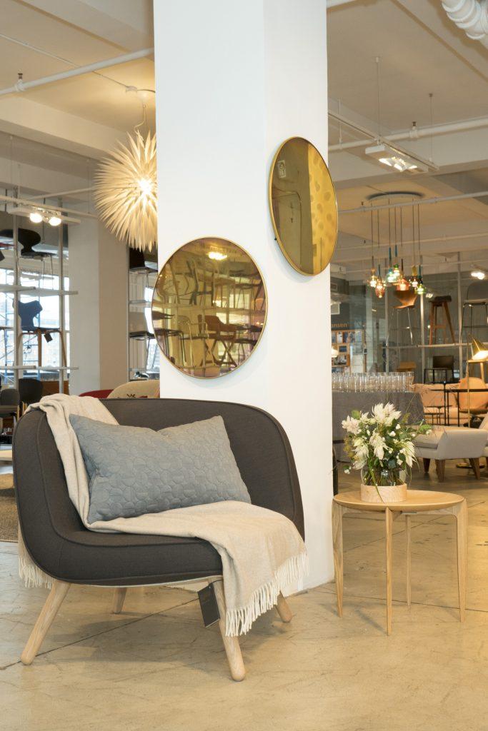 Fritz Hansen objects via57 chair studio roso mirror suiteny showroom